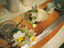 冬から春にかけて花ひらく水仙。あまい香りです。